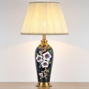 テーブルランプ デスクスタンド 枕元照明 陶器 立体 花 1灯 HY025