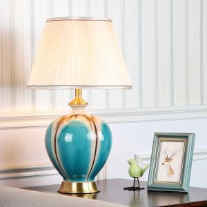 テーブルランプ デスクスタンド 枕元照明 陶器 立体 花 1灯 HY118