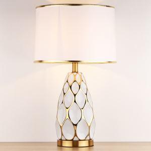 テーブルランプ デスクスタンド 枕元照明 陶器 彩色上絵 1灯 HY031