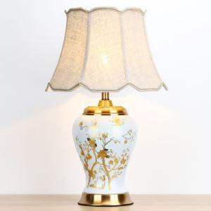 テーブルランプ デスクスタンド 枕元照明 ナイトライト 陶器 網柄 1灯 HY108