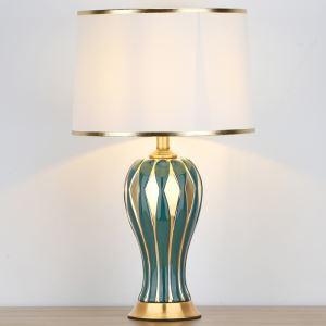 テーブルランプ デスクスタンド 枕元照明 ナイトライト 陶器 縞柄 1灯 HY110A