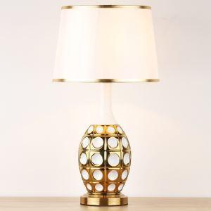 テーブルランプ デスクスタンド 枕元照明 ナイトライト 陶器 1灯 HY033