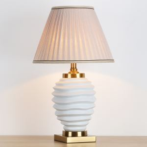 テーブルランプ デスクスタンド 枕元照明 陶器 フロスト 1灯 HY132