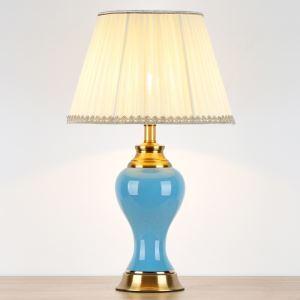 テーブルランプ デスクスタンド 枕元照明 ナイトライト 陶器 3色 1灯 HY124