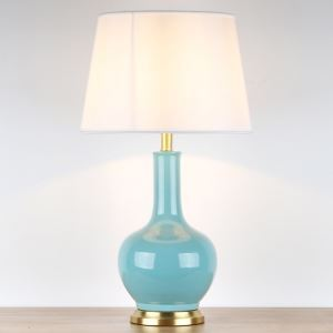 テーブルランプ デスクスタンド 枕元照明 ナイトライト 陶器 3色 1灯 HY123