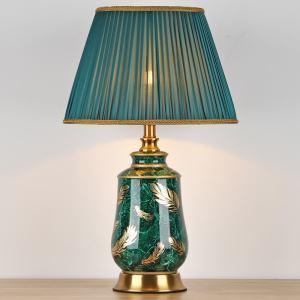 テーブルランプ デスクスタンド 枕元照明 陶器 アンティーク調 1灯 HY063