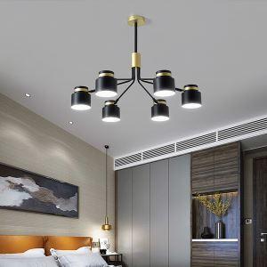 シャンデリア リビング照明 ダイニング照明 寝室照明 枝型 黒金色 QM6828