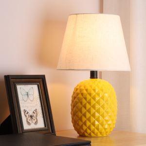テーブルランプ デスクスタンド 枕元照明 陶器 パイナップル型 2色 1灯 HY011
