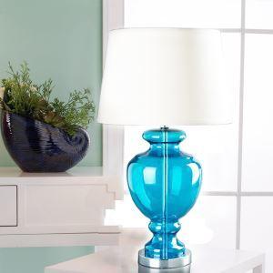 テーブルランプ スタンドライト 書斎照明 青色 ガラス 1灯 HY255