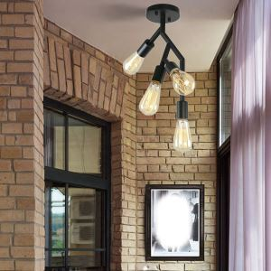 シーリングライト ダイニング照明 子供屋照明 玄関照明 枝型 4灯 QM81530