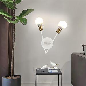 壁掛け照明 ブラケット 玄関照明 黒色白色 北欧 2灯 QM19006