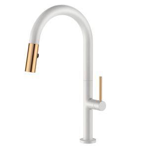 キッチン水栓 台所蛇口 引出し式水栓 冷熱混合栓 水道蛇口 整流&シャワー吐水式 黒色/白色