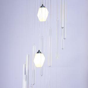 LEDペンダントライト リビング照明 吹き抜け照明 店舗照明 クリスタル オシャレ LED対応