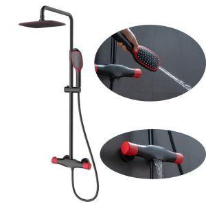 浴室シャワー水栓 レインシャワーシステム シャワーバー バス水栓 ヘッドシャワー+ハンドシャワー+蛇口