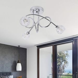 シーリングライト 子供屋照明 寝室照明 玄関照明 ガラス 3灯 BG164