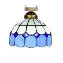 シーリングライト ステンドグラスランプ 店舗照明 玄関照明 簡単取付 D20cm 1灯 OFC1002