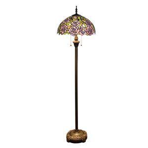 フロアスタンド ステンドグラスランプ フロアランプ 照明器具 書斎照明 花柄 2灯 XCL161