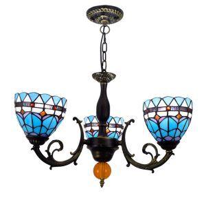 シャンデリア ステンドグラスランプ ダイニング照明 リビング照明 地中海風 3灯 OFP3005