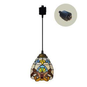 ペンダントライト ステンドグラスランプ ダイニング照明 店舗照明 ダクトレール用 簡単取付 D15cm 1灯 OFP6010