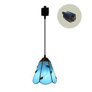 ペンダントライト ステンドグラスランプ ダイニング照明 店舗照明 ダクトレール用 簡単取付 D15cm 1灯 OFP6014