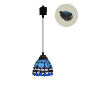 ペンダントライト ステンドグラスランプ ダイニング照明 店舗照明 ダクトレール用 簡単取付 D15cm 1灯 OFP6015