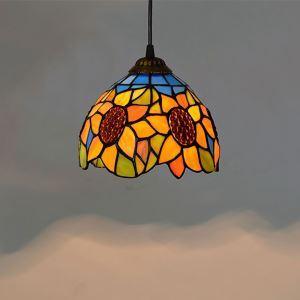 ペンダントライト ステンドグラスランプ ダイニング照明 店舗照明 ダクトレール用 簡単取付 D20cm 1灯 OFP6016