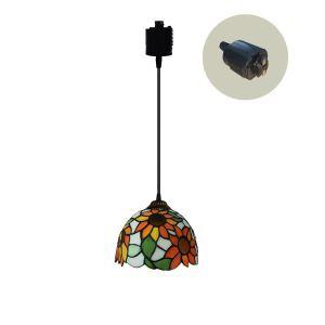 ペンダントライト ステンドグラスランプ ダイニング照明 店舗照明 ダクトレール用 簡単取付 D20cm 1灯 OFP6023