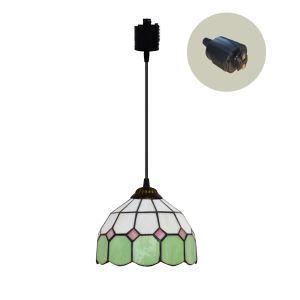 ペンダントライト ステンドグラスランプ ダイニング照明 店舗照明 ダクトレール用 簡単取付 D20cm 1灯 OFP6029