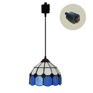 ペンダントライト ステンドグラスランプ ダイニング照明 店舗照明 ダクトレール用 簡単取付 D20cm 1灯 OFP6030