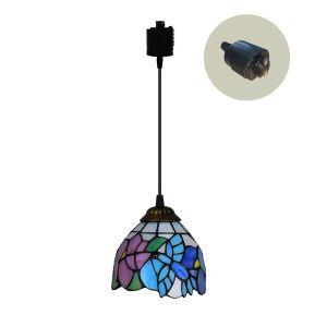ペンダントライト ステンドグラスランプ ダイニング照明 店舗照明 ダクトレール用 簡単取付 D15cm 1灯 OFP6034