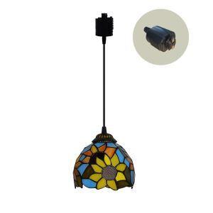ペンダントライト ステンドグラスランプ ダイニング照明 店舗照明 ダクトレール用 簡単取付 D15cm 1灯 OFP6035