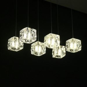 LEDペンダントライト ダイニング照明 玄関照明 寝室照明 氷塊 1灯/3灯 HL010