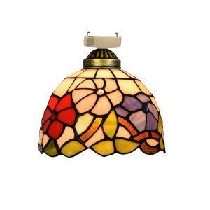 シーリングライト ステンドグラスランプ 店舗照明 玄関照明 簡単取付 D20cm 1灯 OFC1034