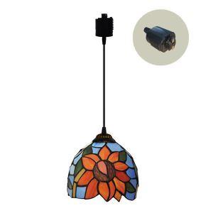 ペンダントライト ステンドグラスランプ ダイニング照明 店舗照明 ダクトレール用 簡単取付 D15cm 1灯 OFP6025