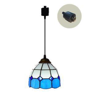 ペンダントライト ステンドグラスランプ ダイニング照明 店舗照明 ダクトレール用 簡単取付 D15cm 1灯 OFP6036