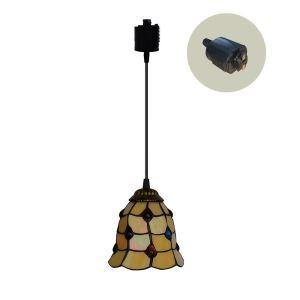 ペンダントライト ステンドグラスランプ ダイニング照明 店舗照明 ダクトレール用 簡単取付 D15cm 1灯 OFP6008