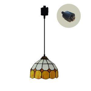 ペンダントライト ステンドグラスランプ ダイニング照明 店舗照明 ダクトレール用 簡単取付 D20cm 1灯 OFP6032