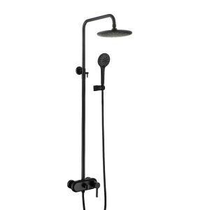 浴室シャワー水栓 レインシャワーシステム シャワーバー バス水栓 ヘッドシャワー+ハンドシャワー+蛇口 3色