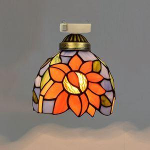 シーリングライト ステンドグラスランプ 玄関照明 店舗照明 簡単取付 D15cm 1灯 OFC1037