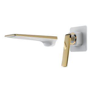 壁付水栓 バス蛇口 洗面水栓 冷熱混合栓 水道蛇口 手洗器蛇口 5色