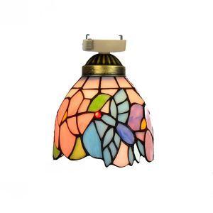 シーリングライト ステンドグラスランプ 玄関照明 店舗照明 簡単取付 D15cm 1灯 OFC1005