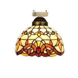 シーリングライト ステンドグラスランプ 店舗照明 玄関照明 簡単取付 D20cm 1灯 OFC1008