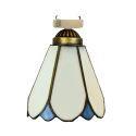 シーリングライト ステンドグラスランプ 玄関照明 店舗照明 簡単取付 D15cm 1灯 OFC1009