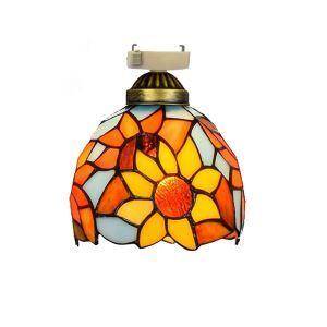 シーリングライト ステンドグラスランプ 玄関照明 店舗照明 簡単取付 D15cm 1灯 OFC1011