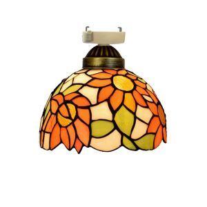 シーリングライト ステンドグラスランプ 店舗照明 玄関照明 簡単取付 D20cm 1灯 OFC1035