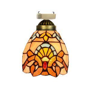 シーリングライト ステンドグラスランプ 玄関照明 店舗照明 簡単取付 D15cm 1灯 OFC1019