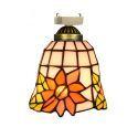 シーリングライト ステンドグラスランプ 玄関照明 店舗照明 簡単取付 D15cm 1灯 OFC1024