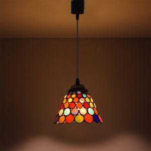 ペンダントライト ステンドグラスランプ ダイニング照明 店舗照明 ダクトレール用 簡単取付 D15cm 1灯 OFP6038