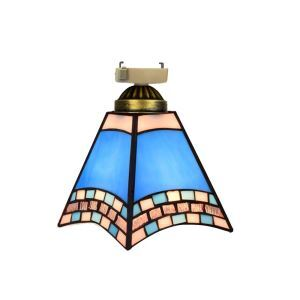 シーリングライト ステンドグラスランプ 玄関照明 店舗照明 簡単取付 D15cm 1灯 OFC1023