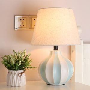 テーブルランプ デスクスタンド 枕元照明 陶器 カボチャ型 3色 1灯 HY011